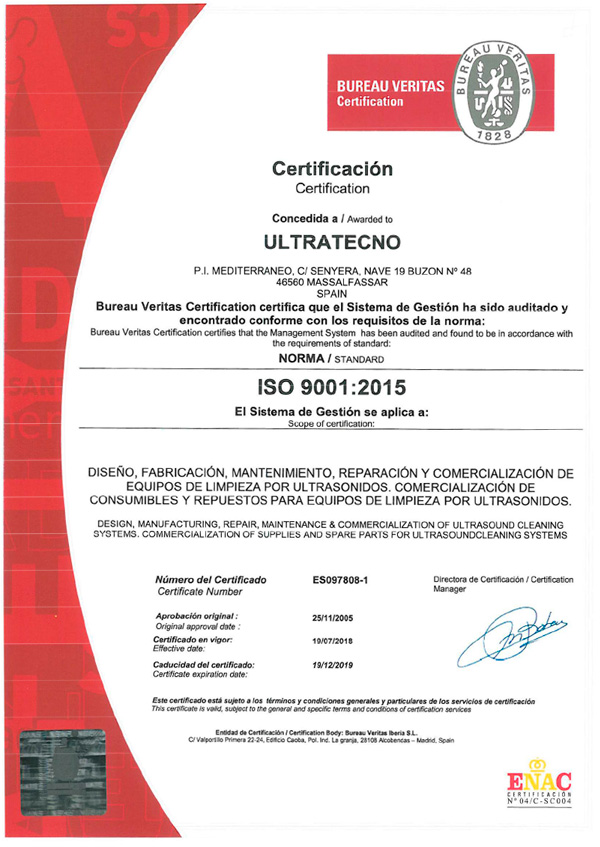 ultratecno iso 9001